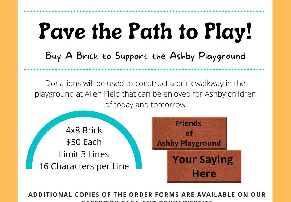 Donate a Brick to Build a Path for the Allen Field Playground