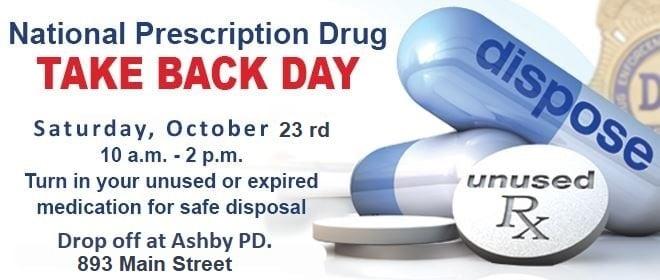 National Drug Take Back Day, October 23, 10am-2pm at APD